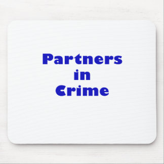 Partners - adentro - crimen alfombrilla de raton