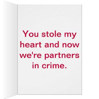 Partners - adentro - crimen felicitación