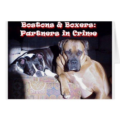 Partners - adentro - crimen tarjeta de felicitación