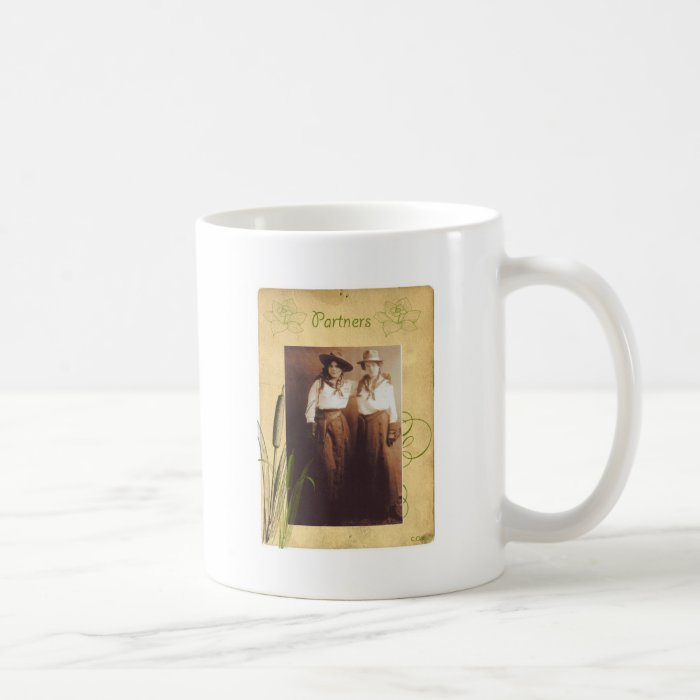 Partners Cowgirl Vintage Photo Collage Coffee Mug