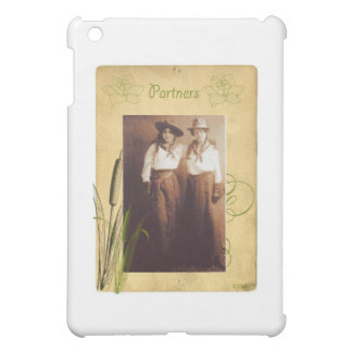 Partners Cowgirl Vintage Photo Collage iPad Mini Covers