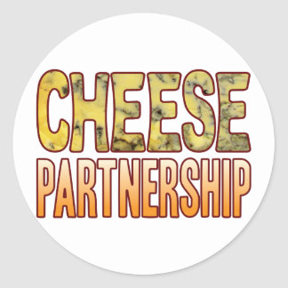 Partnership Blue Cheese Classic Round Sticker