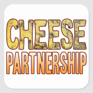 Partnership Blue Cheese Square Sticker