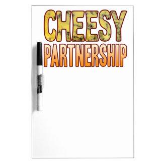 Partnership Blue Cheesy Dry-Erase Board