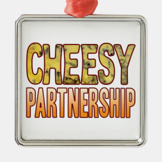 Partnership Blue Cheesy Metal Ornament