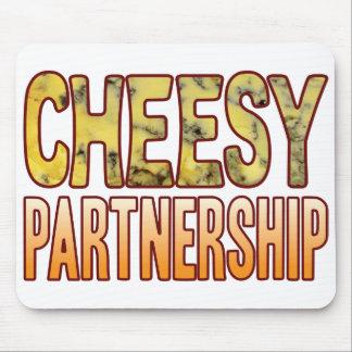 Partnership Blue Cheesy Mouse Pad