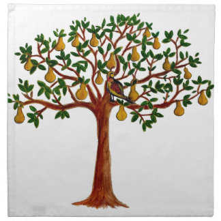 Partridge 2 in a Pear Tree Cloth Table Napkins