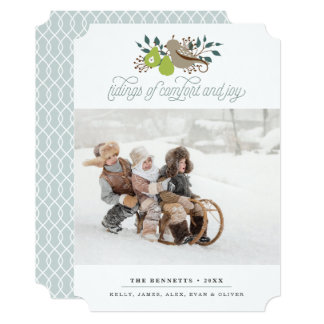 Partridge and Pear Holiday Photo Card