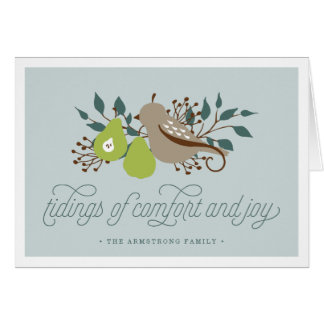 Partridge and Pear Personalized Holiday Card