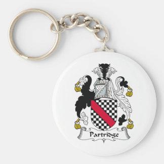 Partridge Family Crest Basic Round Button Keychain