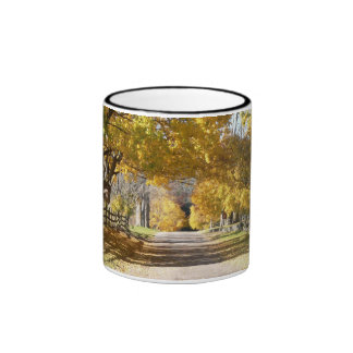 Partridge Hill Rd in Fall Ringer Coffee Mug
