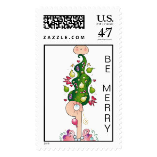 PARTRIDGE IN A HAIR TREE Postage Stamps