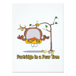 partridge in a pear tree 1st first day christmas announcement