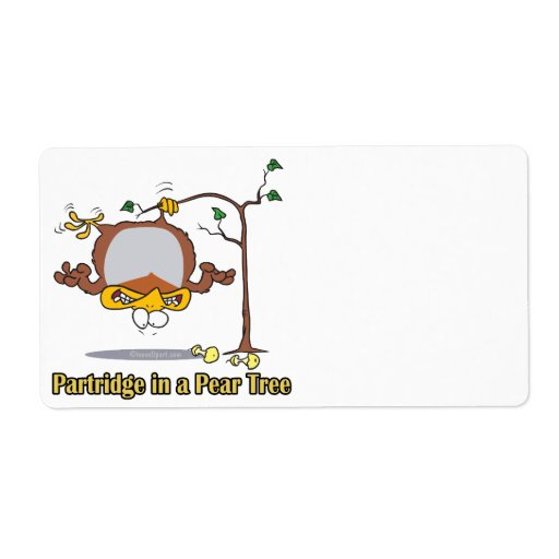 partridge in a pear tree 1st first day christmas shipping label
