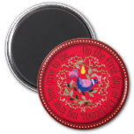 Partridge in a pear tree 2 inch round magnet