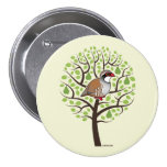 Partridge in a Pear Tree 3 Inch Round Button
