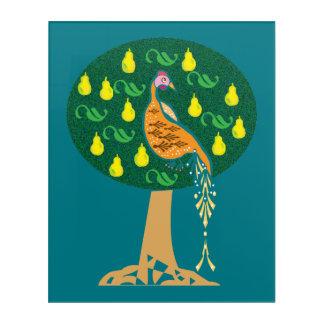 Partridge in a pear tree acrylic wall art