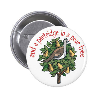Partridge in a Pear Tree Button