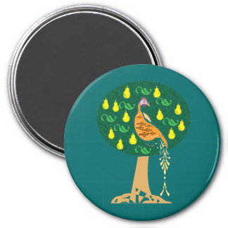 Partridge in a pear tree Christmas carol Magnet