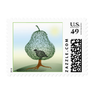 Partridge In A Pear Tree Christmas Humor Holiday Postage