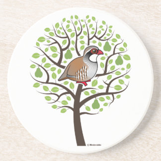 Partridge in a Pear Tree Coaster
