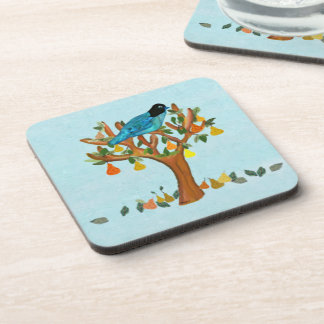 Partridge in a Pear Tree Decorative Coaster Set