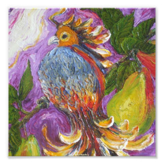 Partridge in a Pear Tree Fine Art Poster