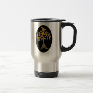 Partridge in a Pear Tree Gold 15 Oz Stainless Steel Travel Mug