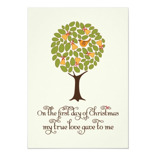 Partridge in a Pear tree Holiday Gift Exchange Custom Announcement