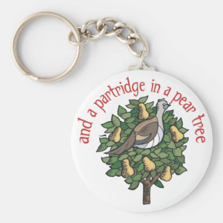 Partridge in a Pear Tree Keychain
