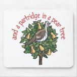 Partridge in a Pear Tree Mousepads