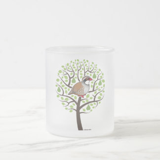 Partridge in a Pear Tree 10 Oz Frosted Glass Coffee Mug