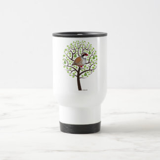 Partridge in a Pear Tree 15 Oz Stainless Steel Travel Mug