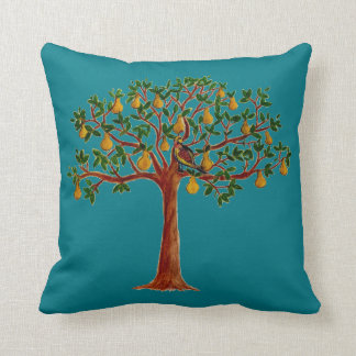 Partridge in a Pear Tree on a Throw Pillow