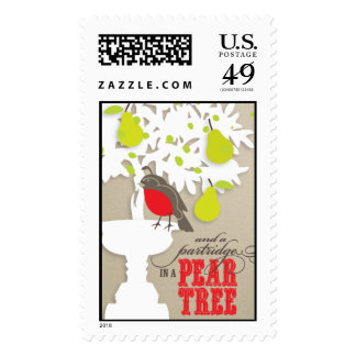 Partridge in a Pear Tree Stamp