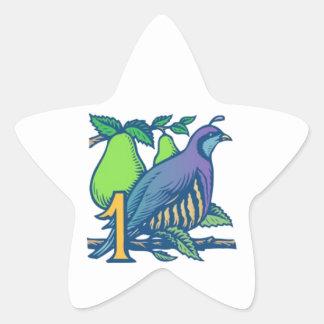 Partridge in a Pear Tree Star Sticker