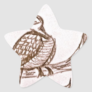 Partridge in a Pear Tree Star Stickers