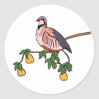 Partridge in a Pear Tree Round Stickers