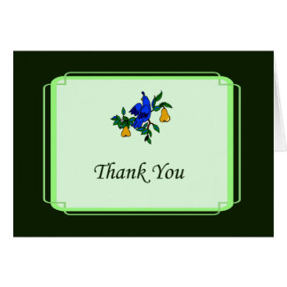 Partridge In A Pear Tree Thank You Card