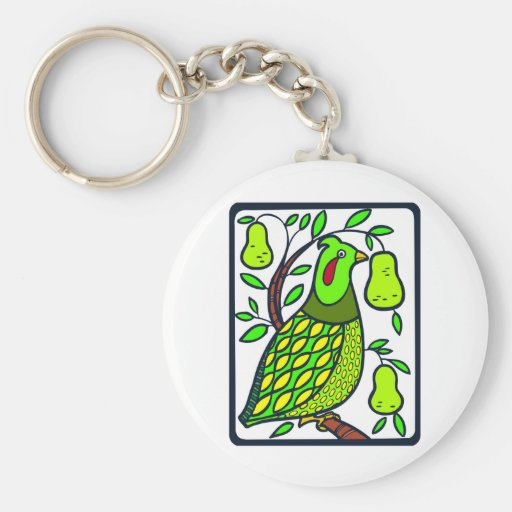 Partridge in Pear Tree Key Chains