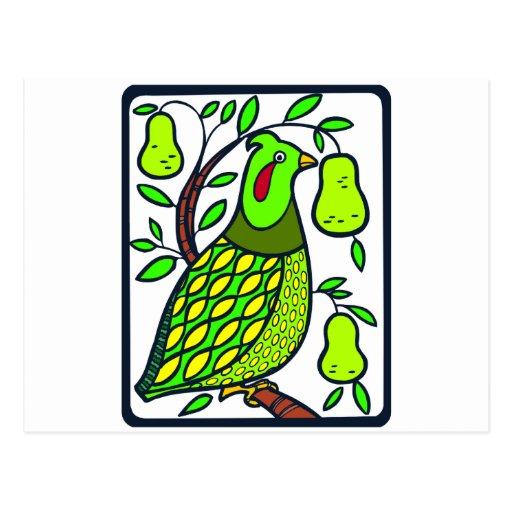 Partridge in Pear Tree Postcard