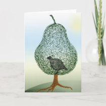 Partridge Pear Tree Funny Christmas Holidays Holiday Card