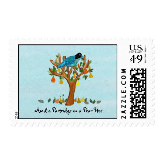 Partridge Pear Tree Postage Stamps