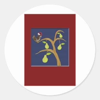 Partridge+PearTree5x7 Sticker