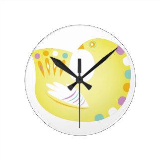 Partridge Round Clock