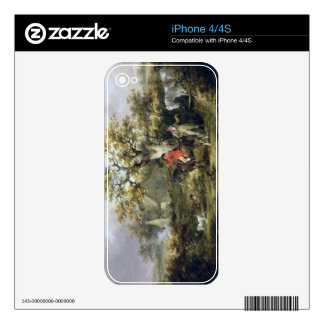 Partridge Shooting (oil on canvas) iPhone 4S Decal