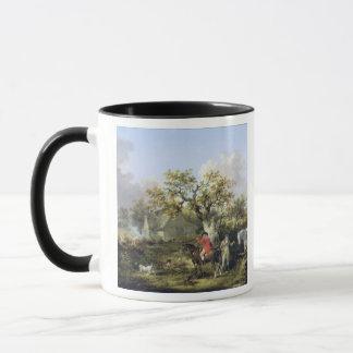 Partridge Shooting (oil on canvas) Mug