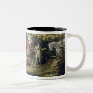 Partridge Shooting (oil on canvas) Two-Tone Coffee Mug