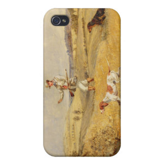 Partridge Shooting (oil on panel) Case For iPhone 4