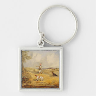 Partridge Shooting (oil on panel) Keychain